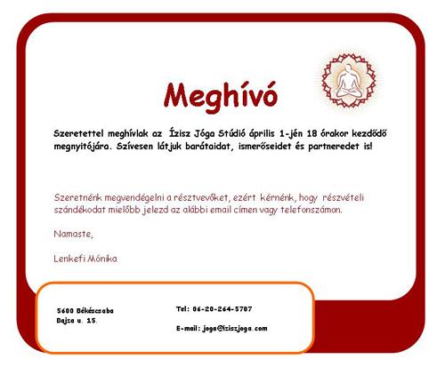 meghivoweboldal